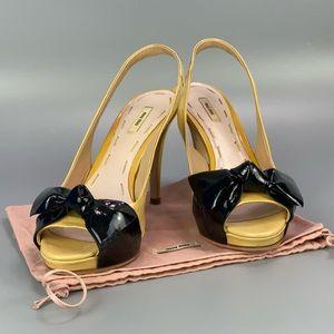 Authentic MIU MIU Patent Leather Bow Heels